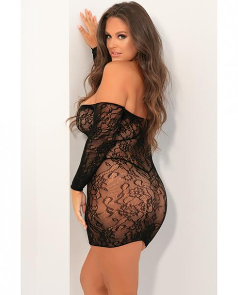 Seductive Lace Dress Black 1X/2X