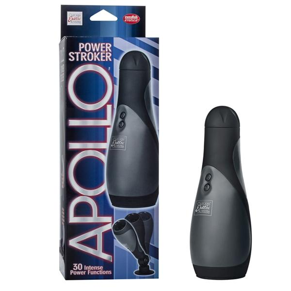 Apollo Power Stroker Masturbator Black 8.5 Inch