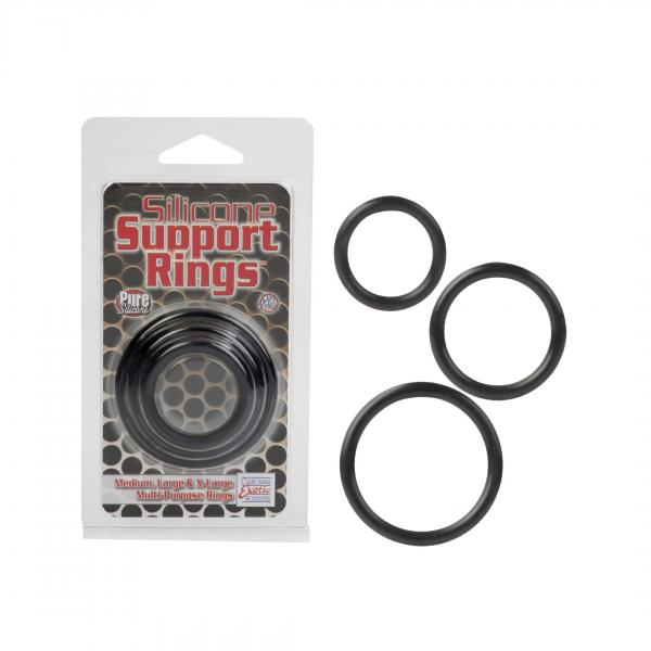 Silicone Support O-Rings - Black