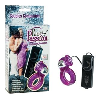 Ring Of Passion Purple Vibrating Cock Ring