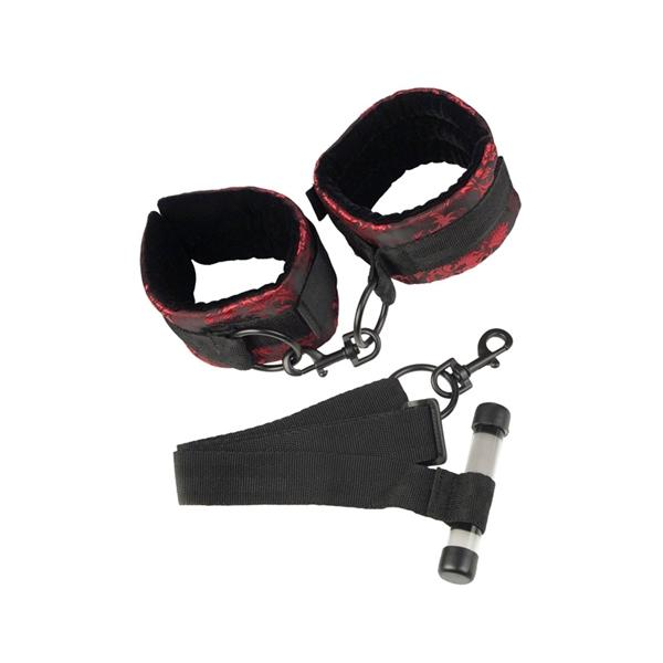 Scandal Over The Door Cuffs Black/Red