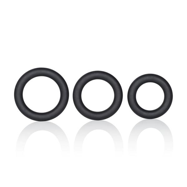 Silicone Support Rings Black 3 Pack