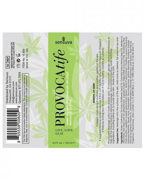 Provocatife Hemp Oil Massage Lotion with Pheromones 4.2oz