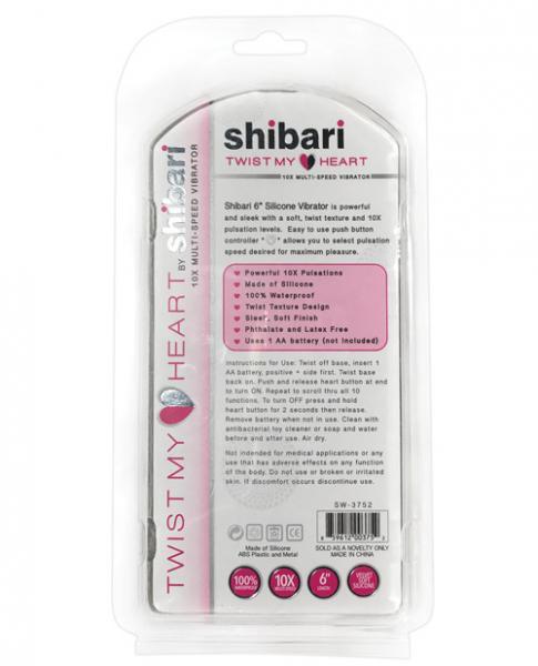 Shibari Twist My Heart Vibrator 10X Pink
