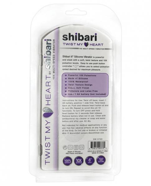Shibari Twist My Heart Vibrator 10X Purple