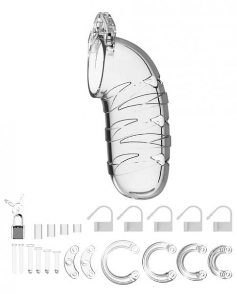 Mancage Chastity 5.5 inches Cock Cage Model 5 Clear