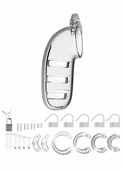 ManCage Chastity 5.5 inches Cock Cage Model 6 Clear