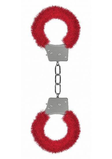 Ouch Beginners Handcuffs Furry Red