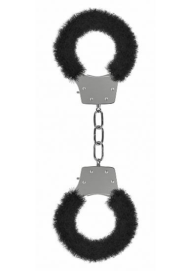 Ouch Pleasure Handcuffs Furry Black