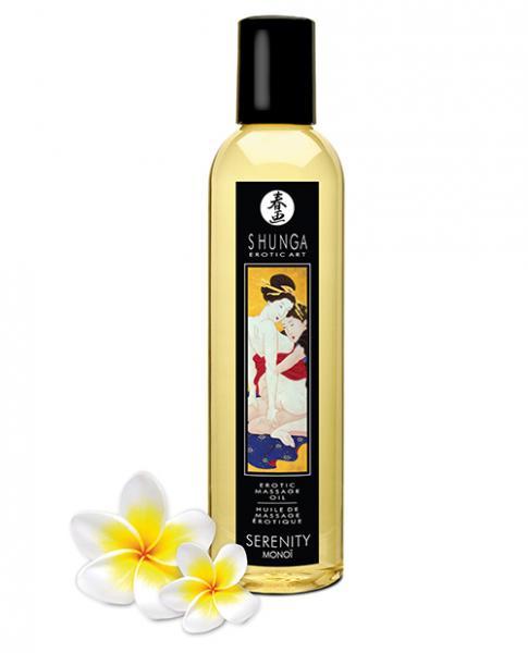 Shunga Erotic Massage Oil Serenity Monoi 8.5oz