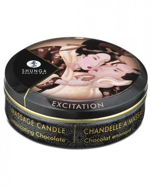 Shunga Excitation Mini Massage Candle Intoxicating Chocolate 1oz