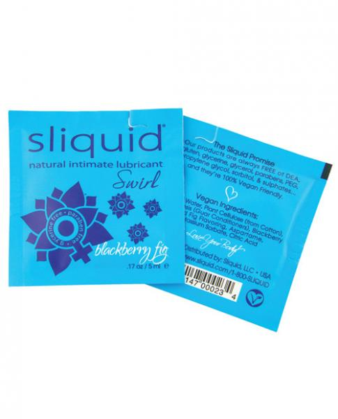 Sliquid Naturals Swirl Lubricant Pillow .17oz Fig