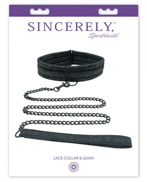 Midnight Lace Collar & Leash Black