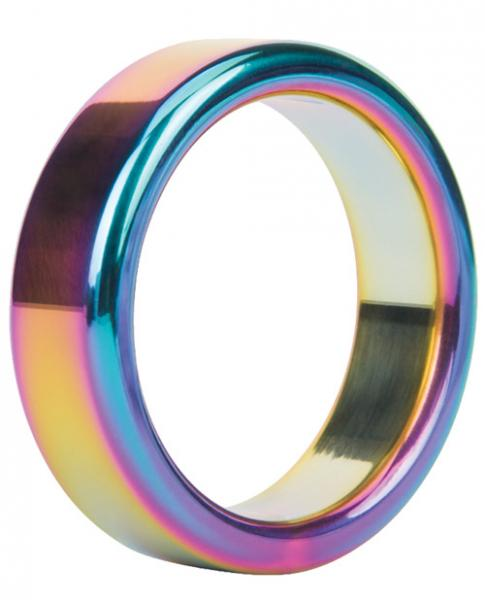 Malesation Nickel Free Steel Rainbow Ring 44mm