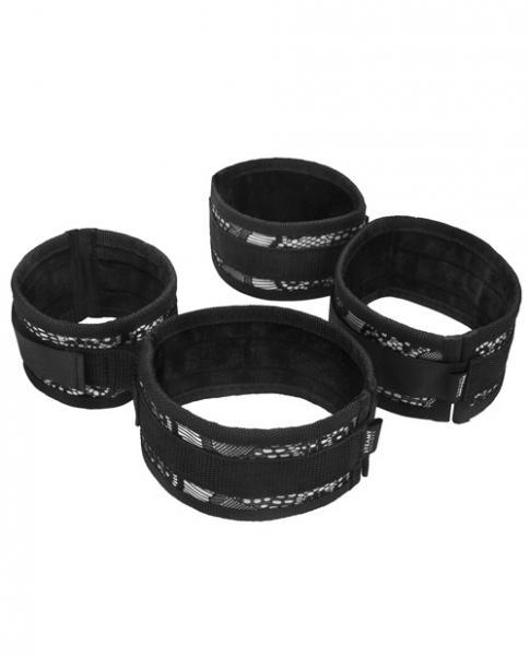 Steamy Shades Wrist To Ankle Cuffs Black