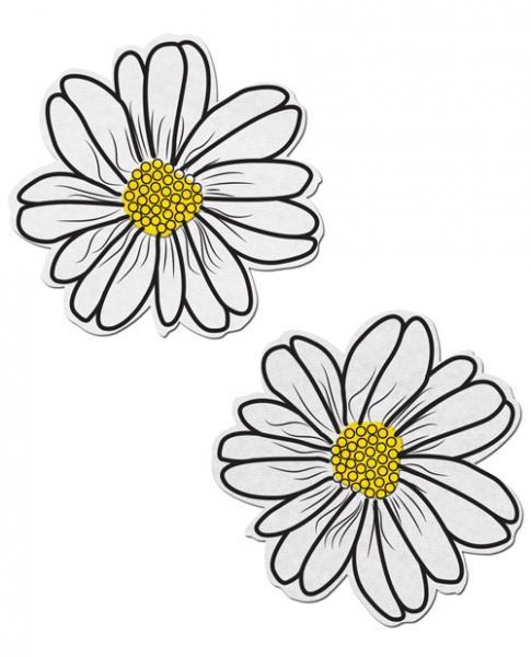 Wildflower White & Yellow Pasties O/S