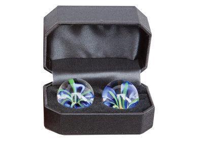 CyberGlass Ben Wa Balls Blue Blossom