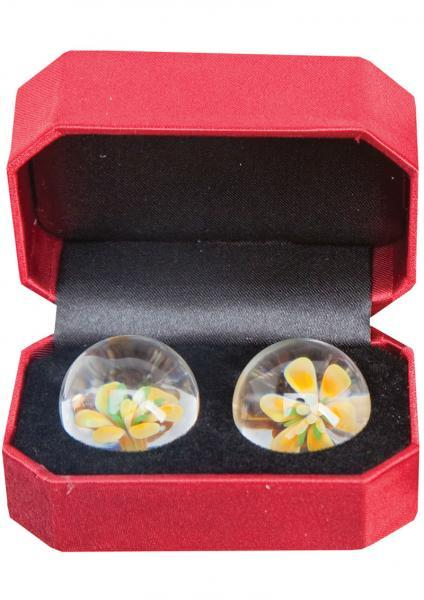 Cyberglass Ben Wa Ball Yellow Blossom