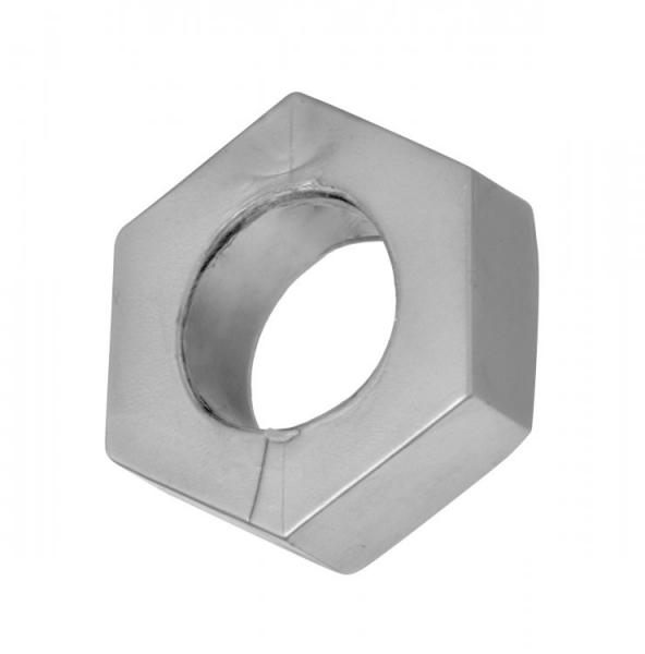 Silver Hex Heavy Duty Cock Ring & Ball Stretcher
