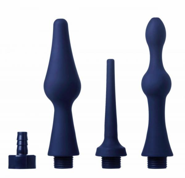 Universal 3 Piece Enema Attachment Set Blue