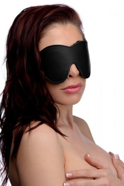 Strict Fleece Lined Blindfold Black O/S