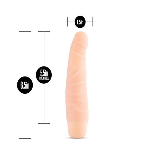 Silicone Willy's Slim 6.5 inches Vibrating Dildo Beige