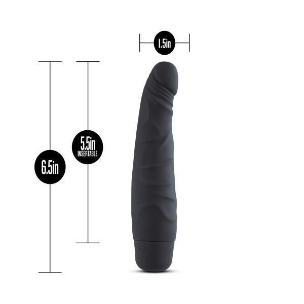 Silicone Willy's Slim 6.5 inches Vibrating Dildo Black