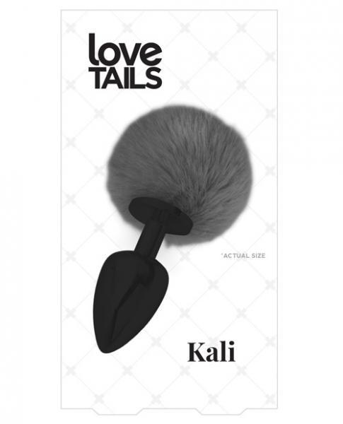 Kali Medium Black Butt Plug Black Pom Pom