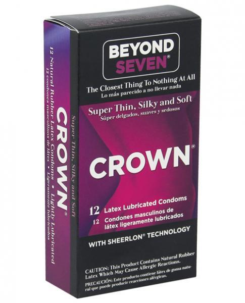 Crown Super Thin Sensitive Latex Condoms 12 Pack