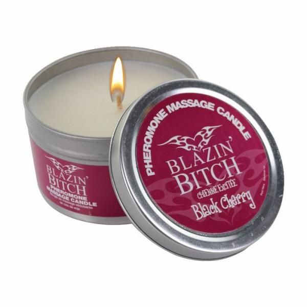 Blazin Bitch Pheromones Soy Massage Candle 4 ounces