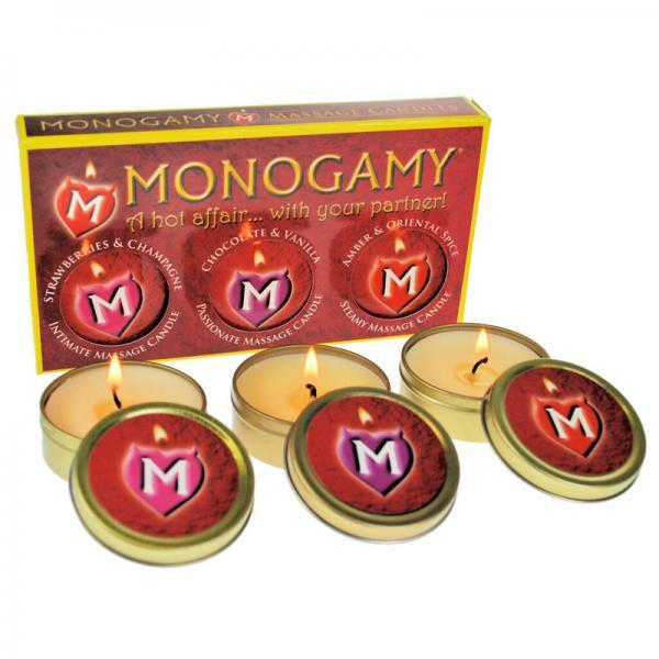 Monogamy Massage Candles 3 Pack