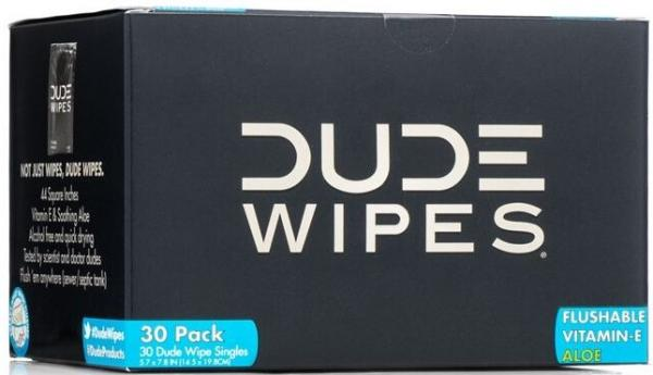 Dude Wipes 30 Dude Wipe Singles