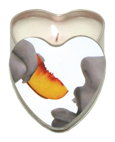 Edible Heart Candle - Peach