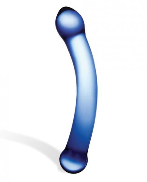 Glas 6 inches Curved Glass G-Spot Dildo Blue