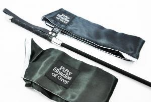 Fifty Shades Blindfold, Wrist Tie And Crop Set