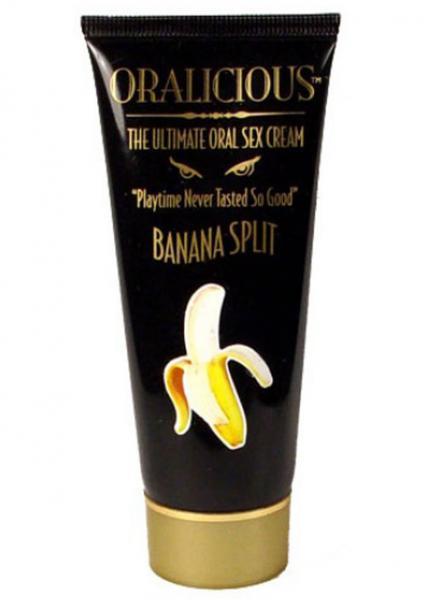 Oralicious Ultimate Oral Sex Cream 2oz Banana Split