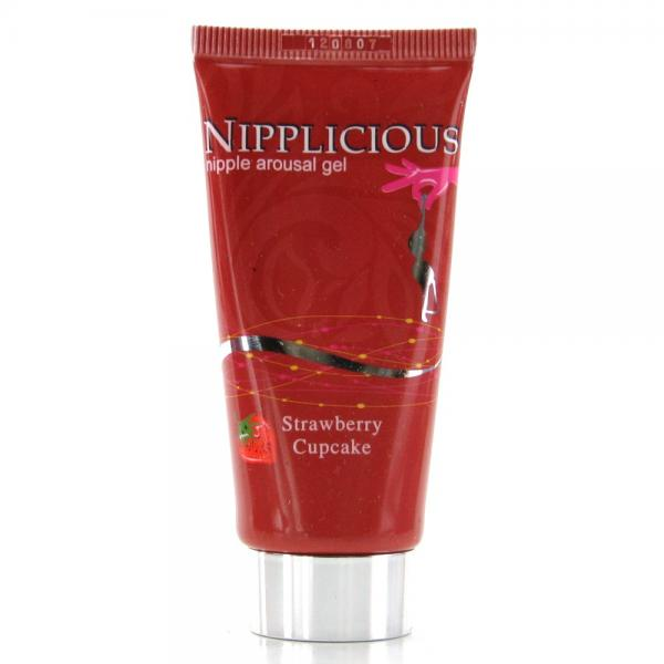 Nipplicious Nipple Arousal Gel Strawberry Cupcake 1 Ounce