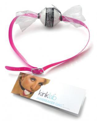 Jawbreaker Candy Gag - Pink Strap