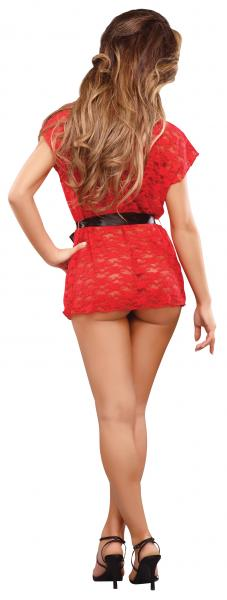 Luv Lace Wrap & G-String Red Queen