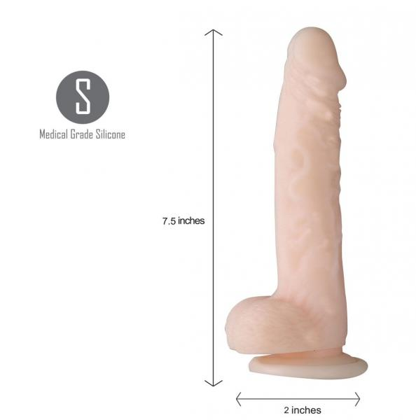 Averi 9 inches Realistic Silicone Dong Beige