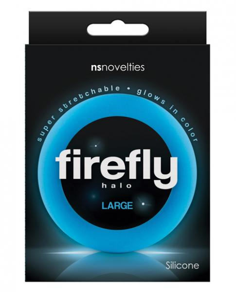 Firefly Halo Large Cock Ring Blue