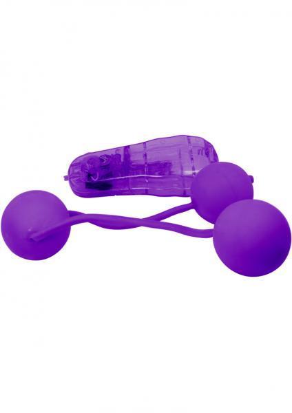 Real Skin Ben Wa Balls Vibrating Purple