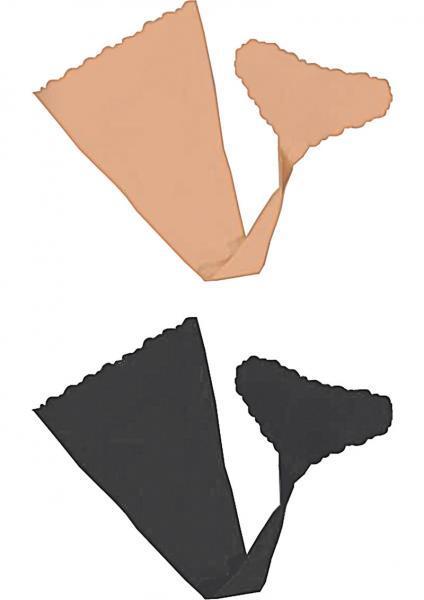 Hush Strapless Panties Nude, Black S/M