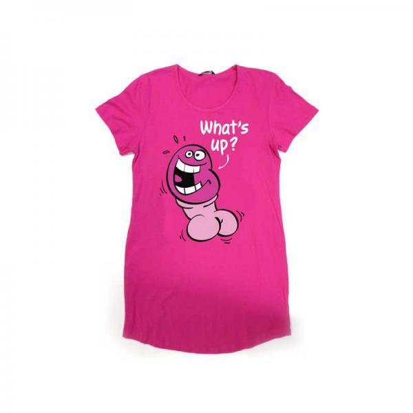 Pecker Sleepshirt Pink O/S
