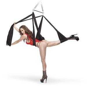 Fetish Fantasy Yoga Sex Swing Black Ceiling Mount