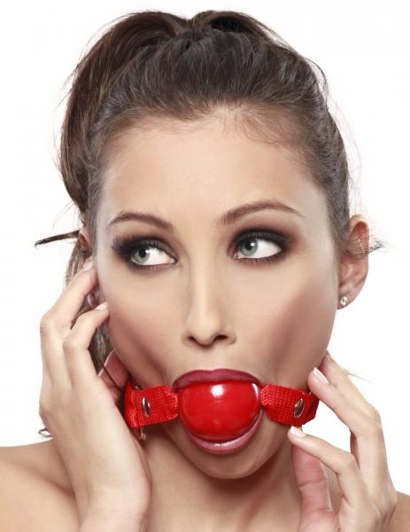 Ruby Ball Gag Red O/S