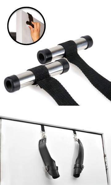 Deluxe Door Cuffs Black Leather