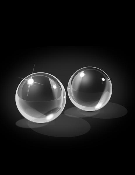Icicles No 42 Ben Wa Balls Glass Clear Medium