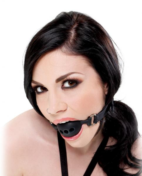 Black Silicone Breathable Small Ball Gag O/S