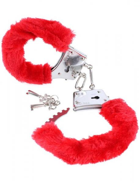 Fetish Fantasy Beginners Furry Cuffs Red